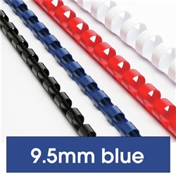 BINDING COMBS 10MM BLUE 21LOOP 65SHT CAP BX 100