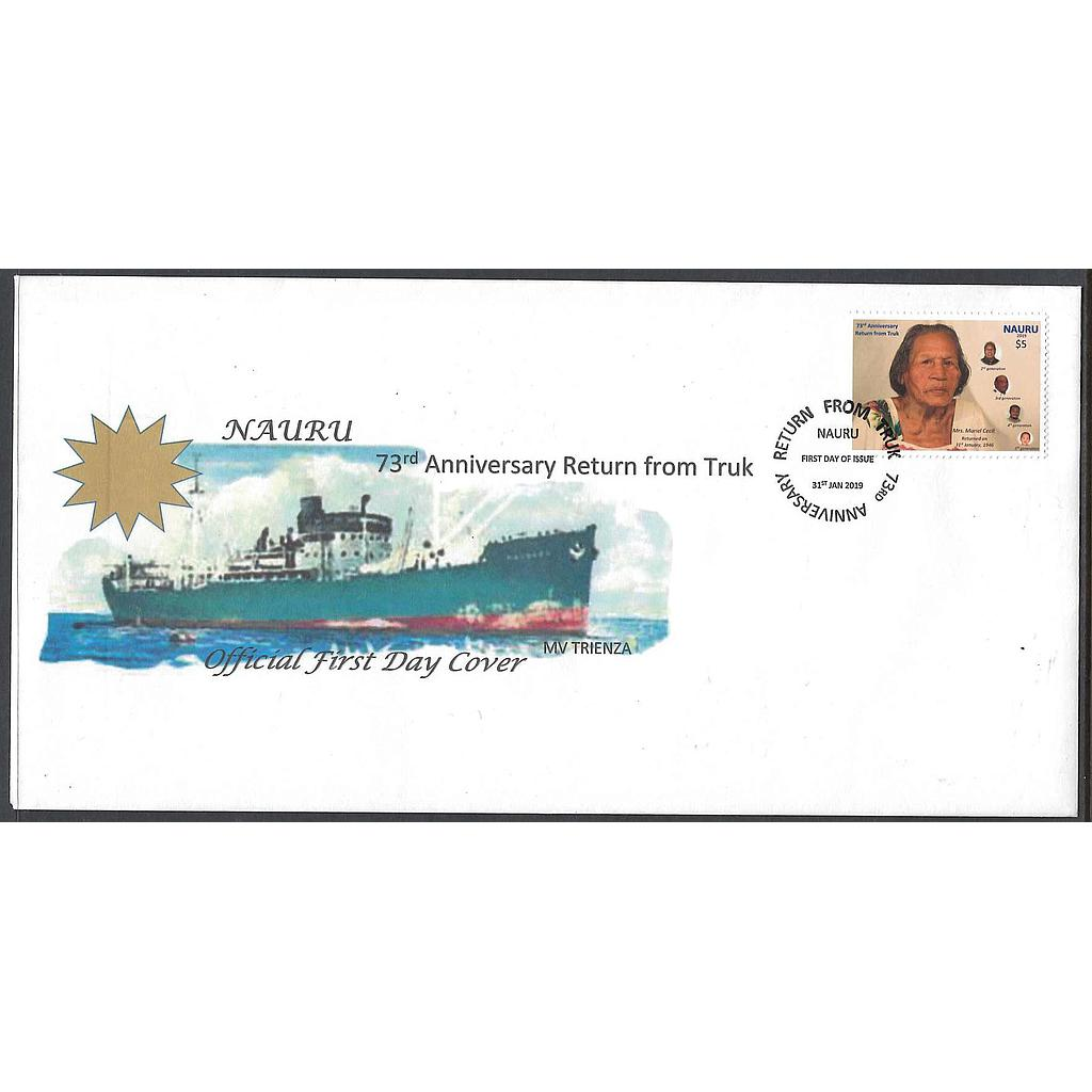 73rd Anniversary Return From Truk FDC